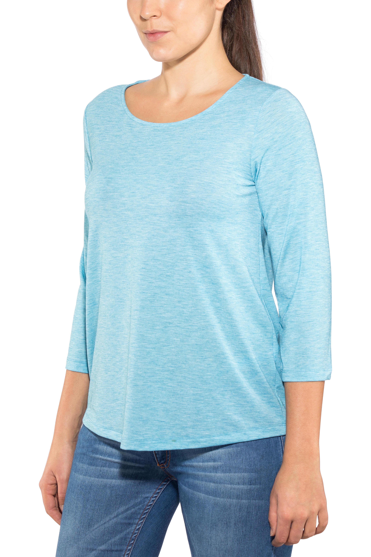 a7d64d7cd55 Sherpa Asha - T-shirt manches courtes Femme - bleu sur CAMPZ !